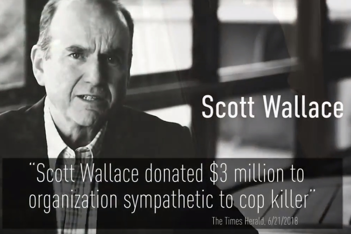 TV stations stop airing ad alleging Democrat Scott Wallace helped fund cop-killer Mumia Abu-Jamal's defense