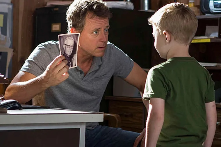 """Greg Kinnear with Connor Corum in """"Heaven Is for Real,"""" about a Nebraska preacher whose young son maintains that he has been to heaven. (Sony Pictures)"""