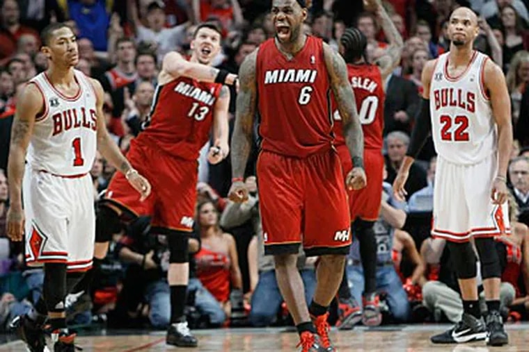 The Miami Heat will face the Dallas Mavericks in the NBA Finals. (Charles Rex Arbogast/AP Photo)