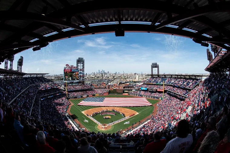 Citizens Bank Park would look a little different this season without fans, under the plan that would start the season in late June.