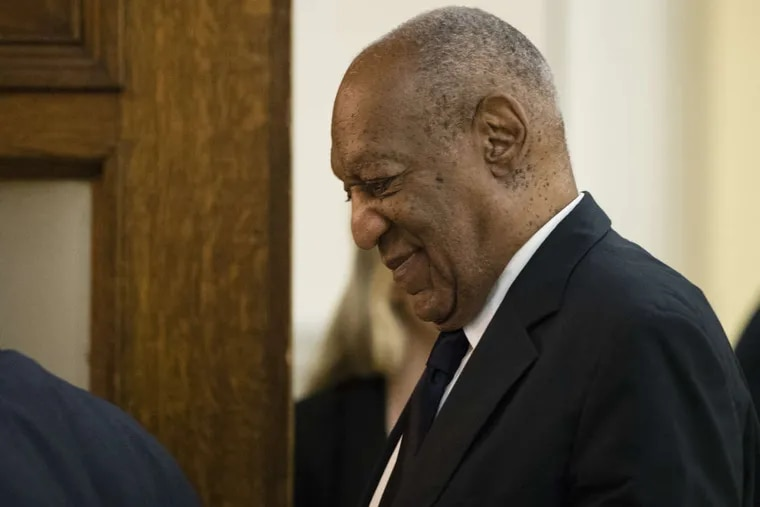 Bill Cosby enters the courtroom for his sexual assault trial at the Montgomery County Courthouse in Norristown, Pa., on Tuesday.