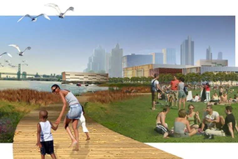 Part of Penn Praxis' waterfront vision