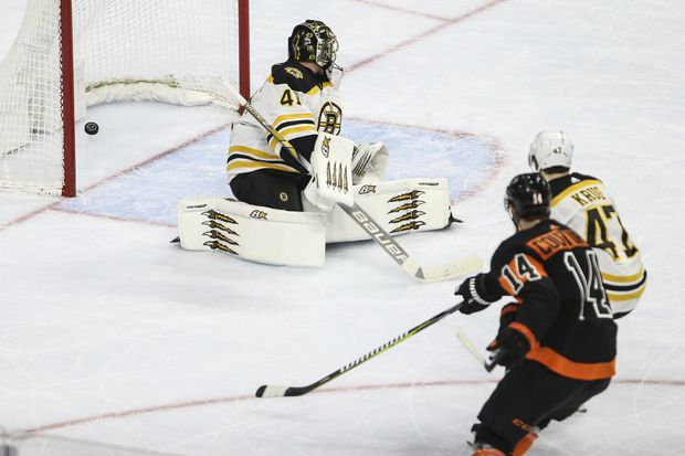 Sean Couturier, Carter Hart key Flyers' comeback win over Bruins