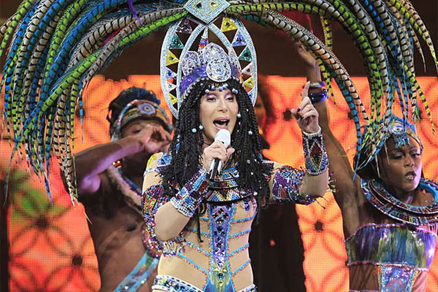 Concert review: Cher in fine voice and costume at Wells Fargo