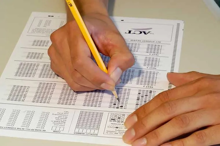 A student fills in an answer sheet for a standardized test. (Courtesy photo)