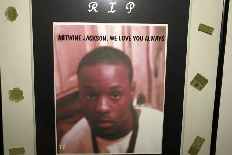 A photo of Antwine Jackson in his family's Mayfair home. Jackson was shot dead in January 2007, and the man convicted of killing him, Dontia Patterson, was freed from prison in 2018 after the Philadelphia District Attorney's Office said it believed Patterson likely was innocent.