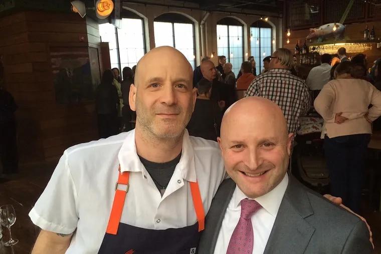Marc Vetri (left) and Jeff Benjamin, who founded Vetri in 1998. ( Michael Klein / Philly.com )