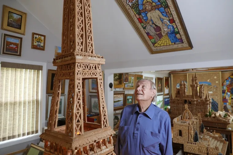 At 92, Walter Deuschle needed something to pass the time during the pandemic and to help him power through chemotherapy. So he built the Eiffel Tower with about 2000 corks over nine months.