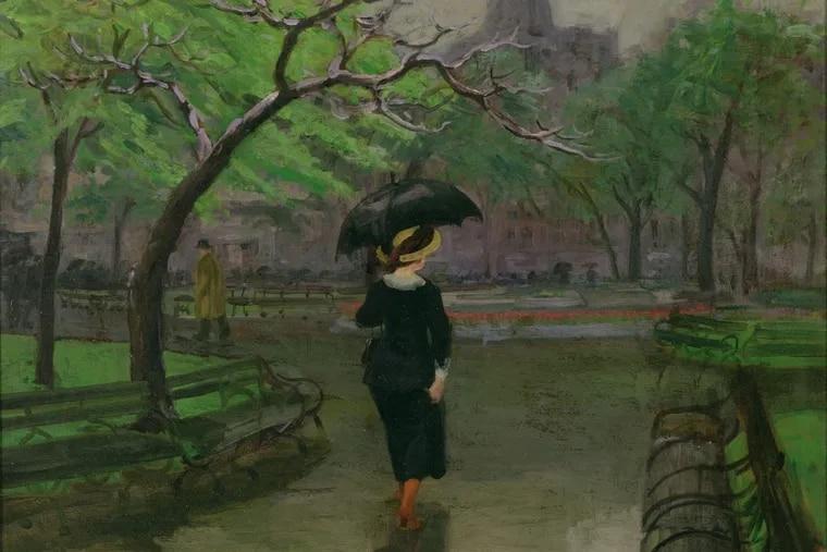 """Spring Rain"" by John Sloan."