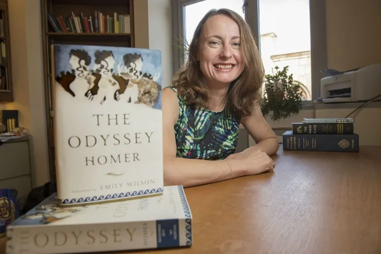 """Emily Wilson of the University of Pennsylvania is the first woman to translate """"The Odyssey"""" into English."""