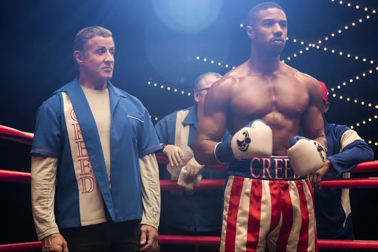 Sylvester Stallone stars as Rocky Balboa and Michael B. Jordan as Adonis Creed and in CREED II, a Metro Goldwyn Mayer Pictures and Warner Bros. Pictures film<br/> Credit: