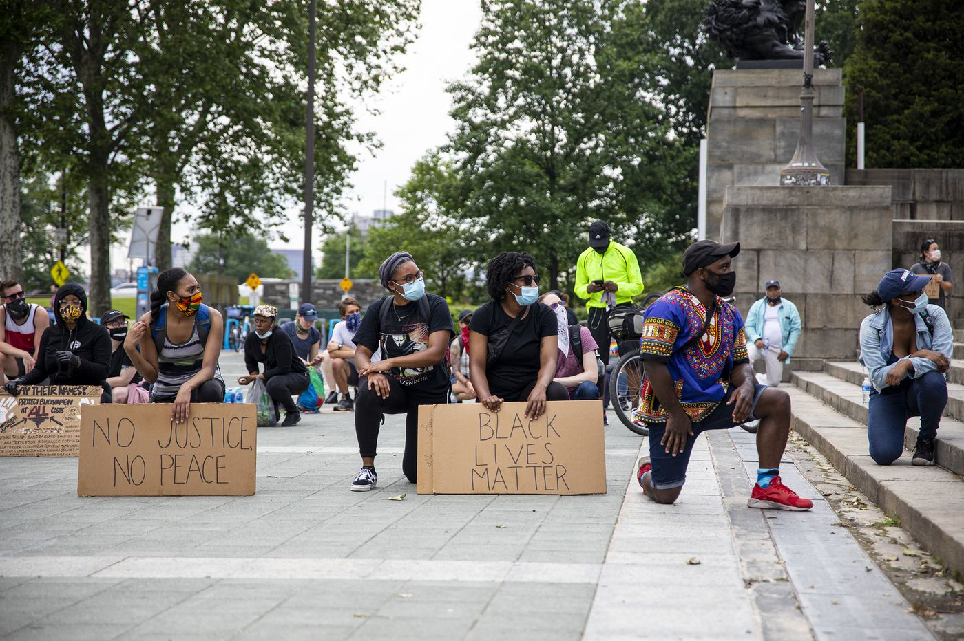 In spite of rain, protesters gather for George Floyd; massive Philadelphia march planned for Saturday