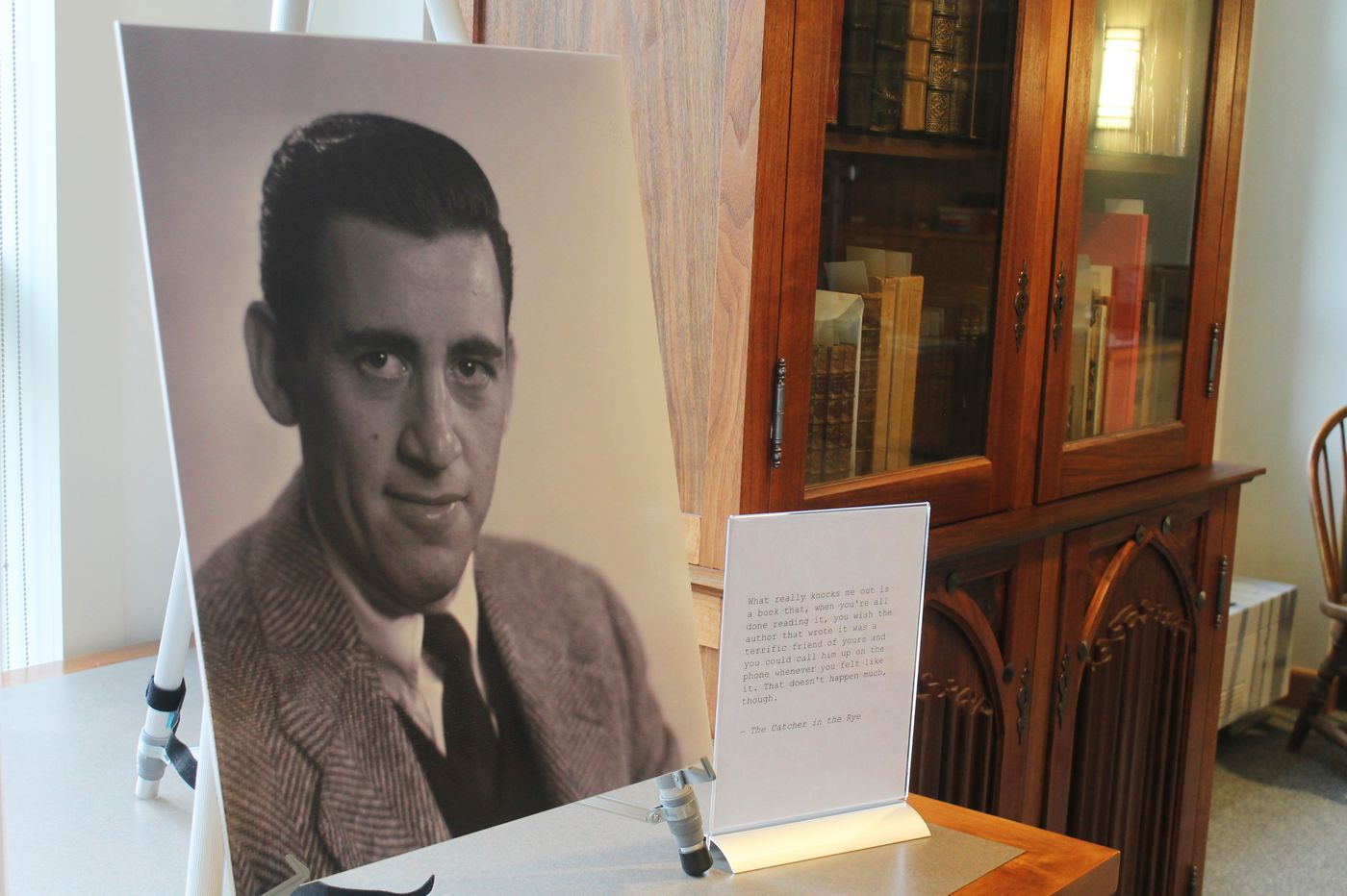Unseen J.D. Salinger photos shot for 'Catcher' on display