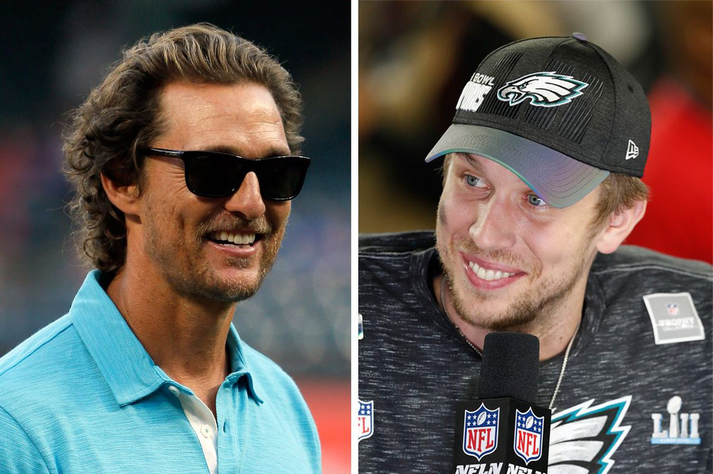Matthew McConaughey hails fellow Texan Nick Foles with a full page ad