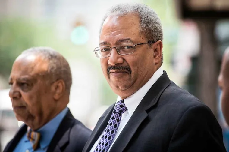 U.S. Rep. Chaka Fattah leaves the federal courthouse after being convicted on Tuesday, June 21, 2016, in a federal racketeering case.