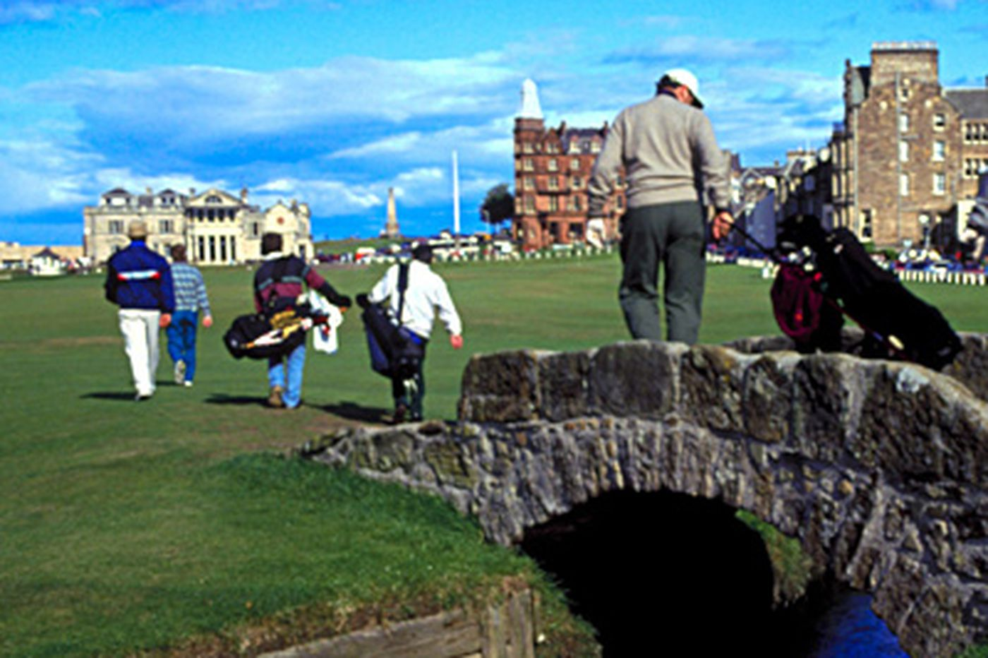 To golf's mecca: The Old Course at St. Andrews in Scotland