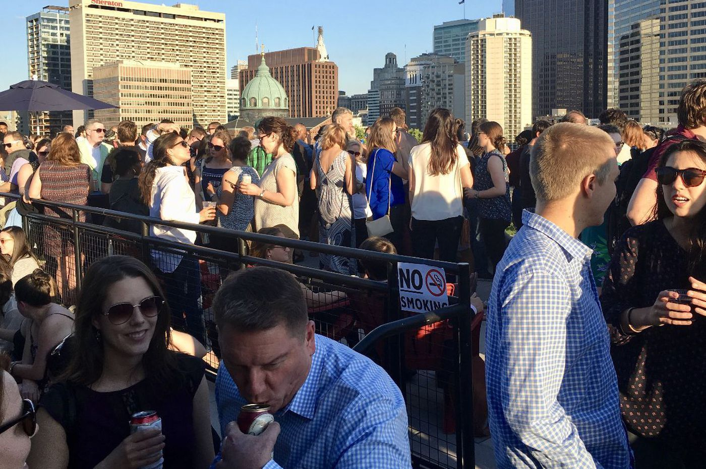 Brews & Views sets up a beer garden on the Free Library's roof