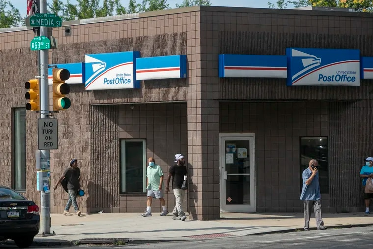 Photograph of Post Office at N. 63rd Street at Media in Philadelphia as seen on Thursday, July 30, 2020.