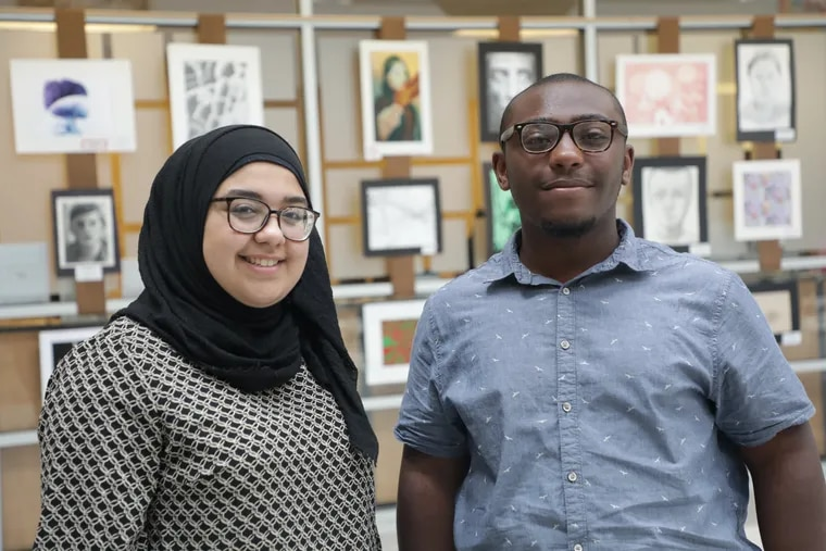 Doha Ibrahim, a student at Lincoln High School, and Imere Williams, who attends Boys' Latin of Philadelphia, are members of the Philadelphia school board.