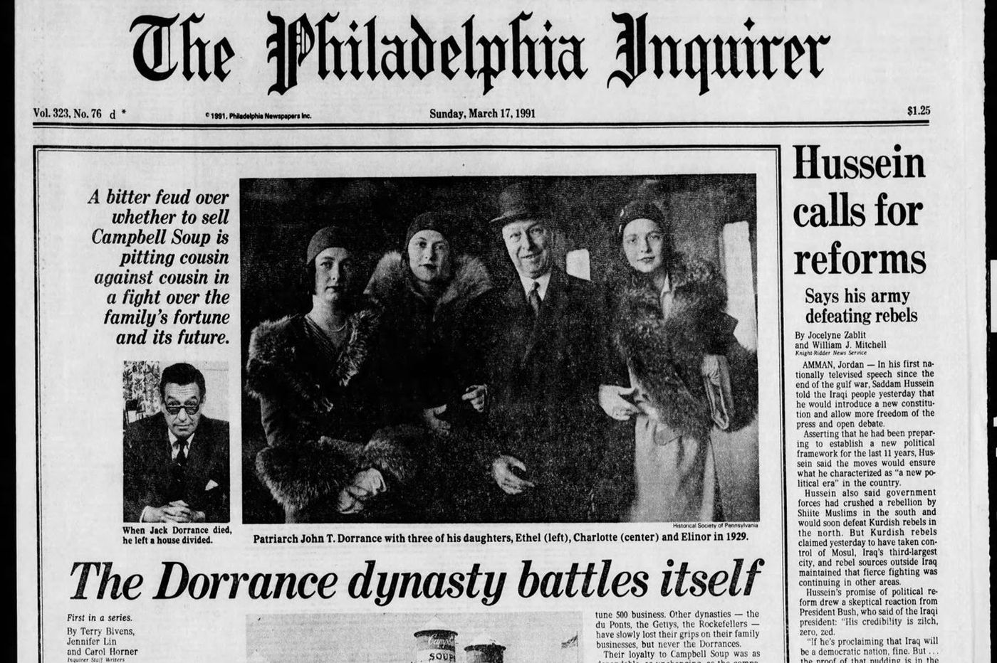 From The Archives The Dorrance Dynasty Battles Itself At Campbells