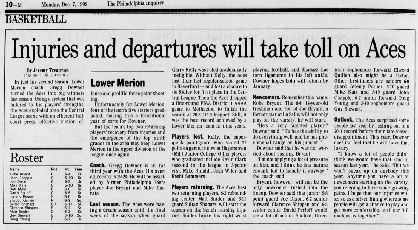 This article ran in the Dec. 7, 1992 edition of The Inquirer.