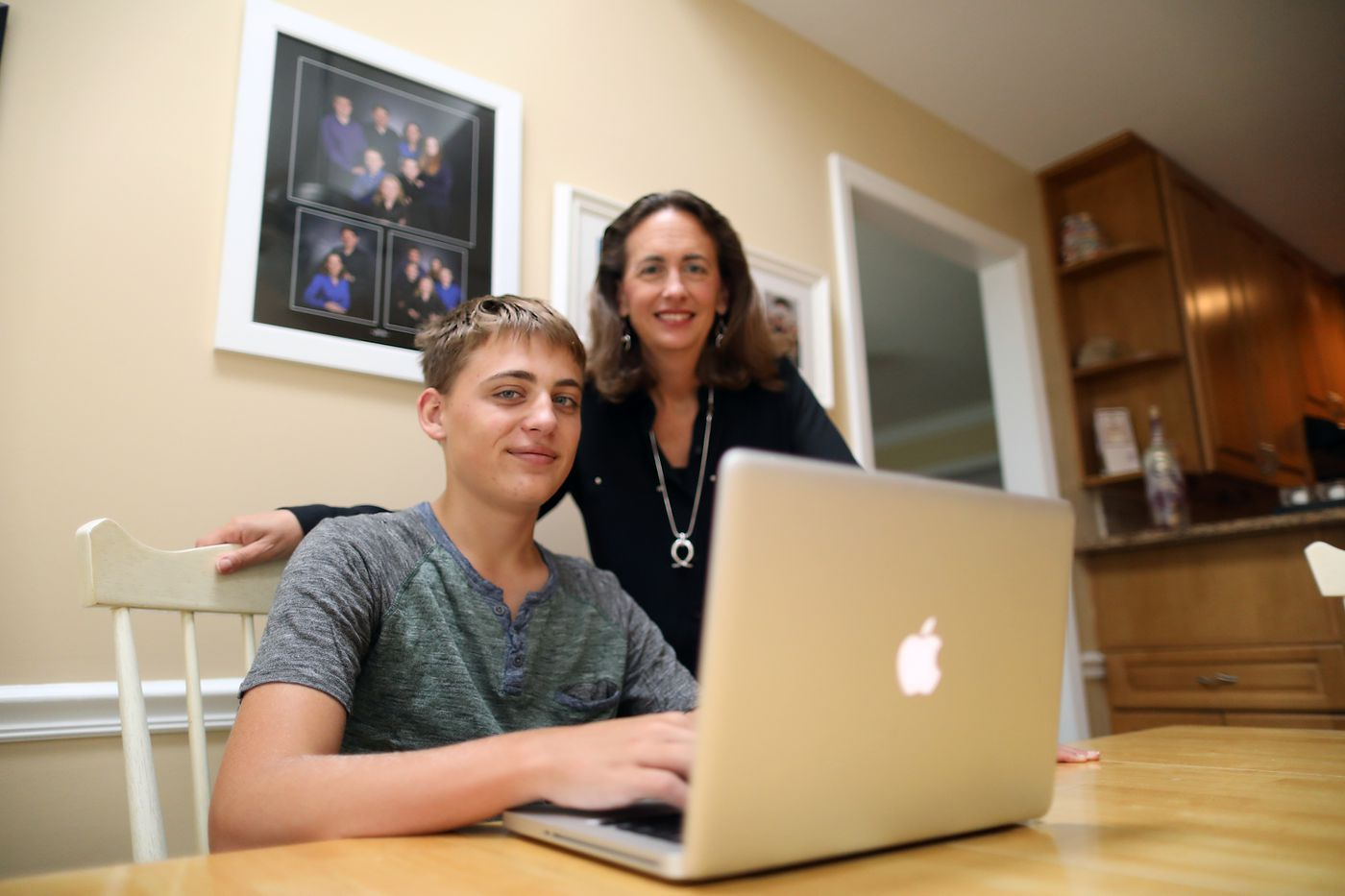 Delco high school is pioneering a choice to learn at home, at school — or both
