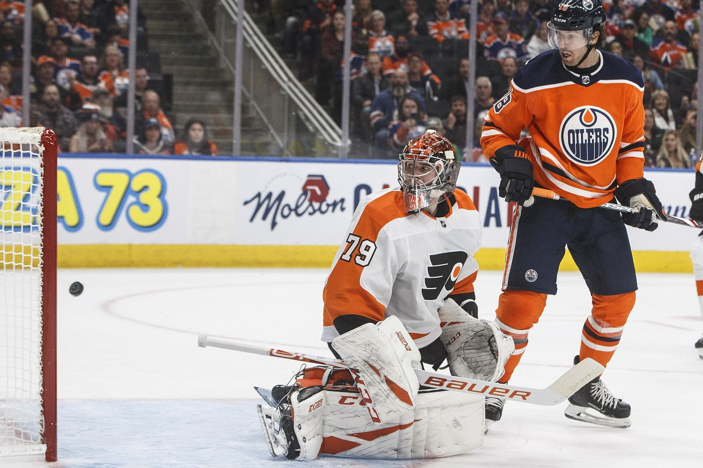 Flyers come out shooting, but mostly blanks in lopsided loss in Edmonton