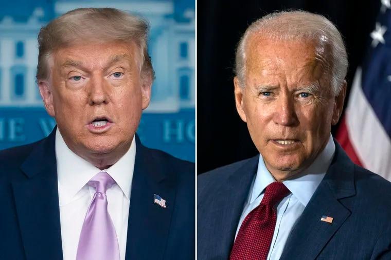 President Donald Trump and former Vice President Joe Biden.