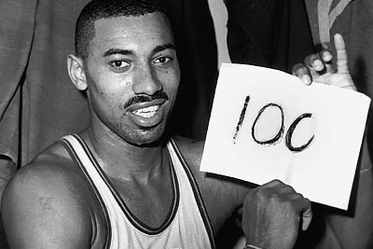 Wilt Chamberlain is under consideration for being honored with his own postage stamp. (Paul Vathis/AP file photo)