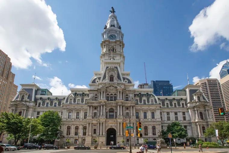 Philadelphia City Hall, photographed in November, 2018.