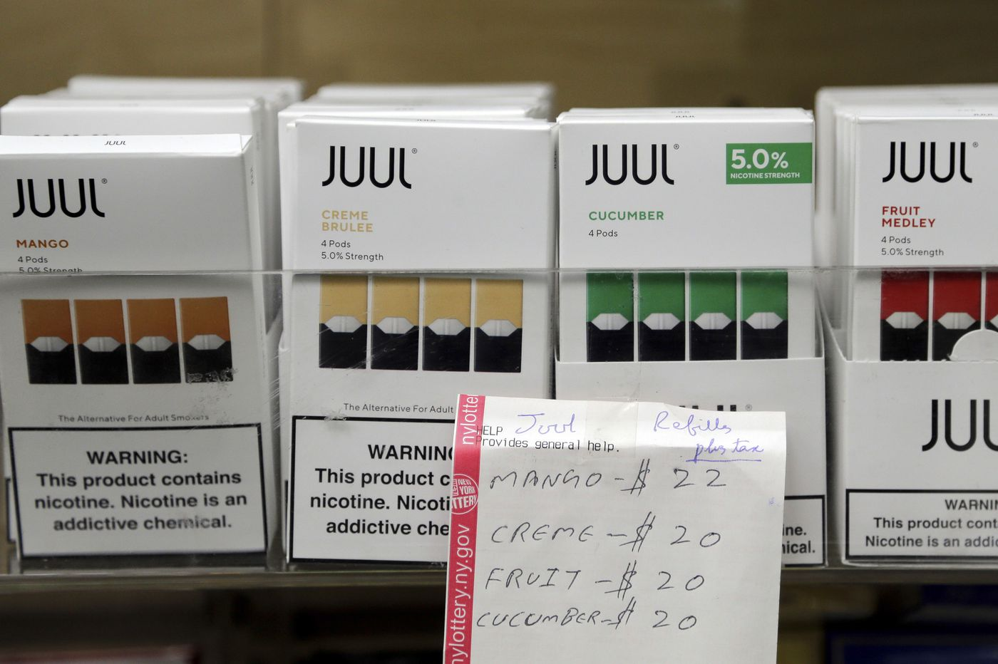 E-cigarette giant Juul suspends online sales of mango and three other flavors