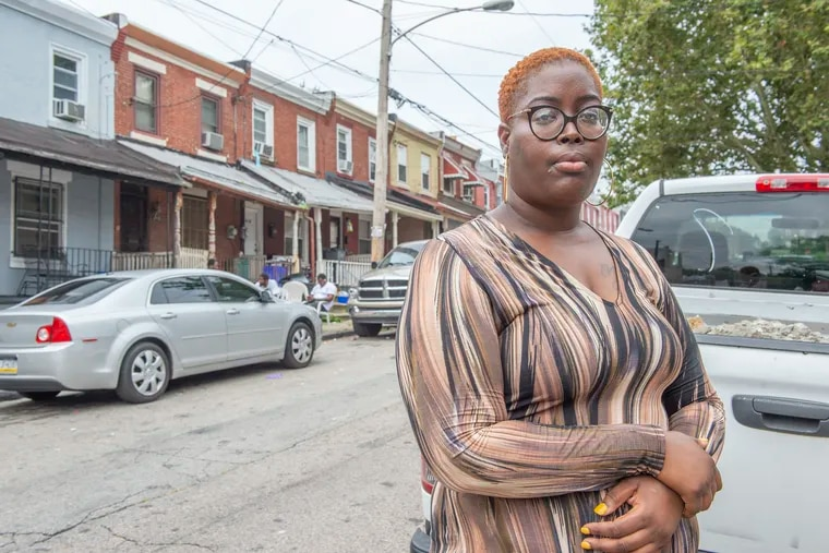 "Alisha Gillespie near her Germantown home. TANF, she said, ""was like a ball and chain."""