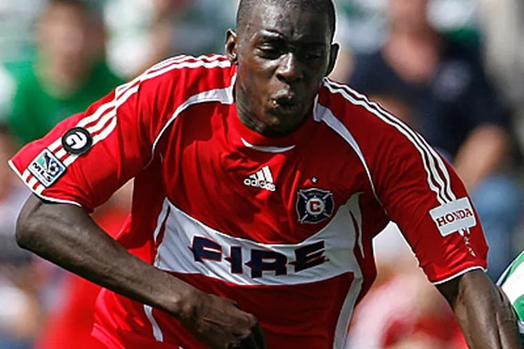 Former Chicago Fire defender Bakary Soumare was a 2008 MLS defender of the year finalist. (AP file photo)