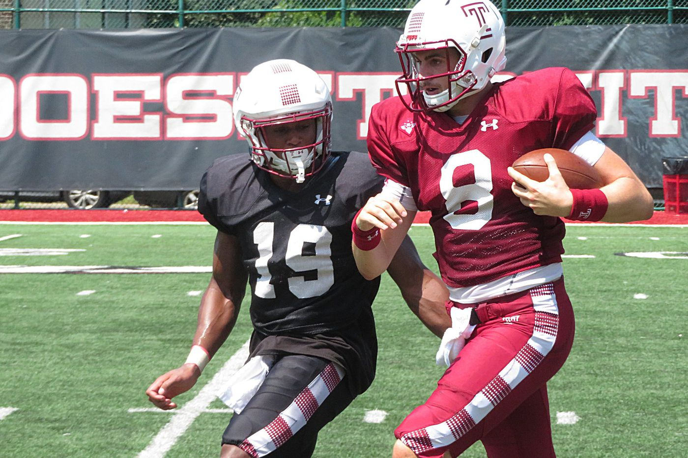 Temple football training camp notes: A big day for WR Branden Mack, plus OL update