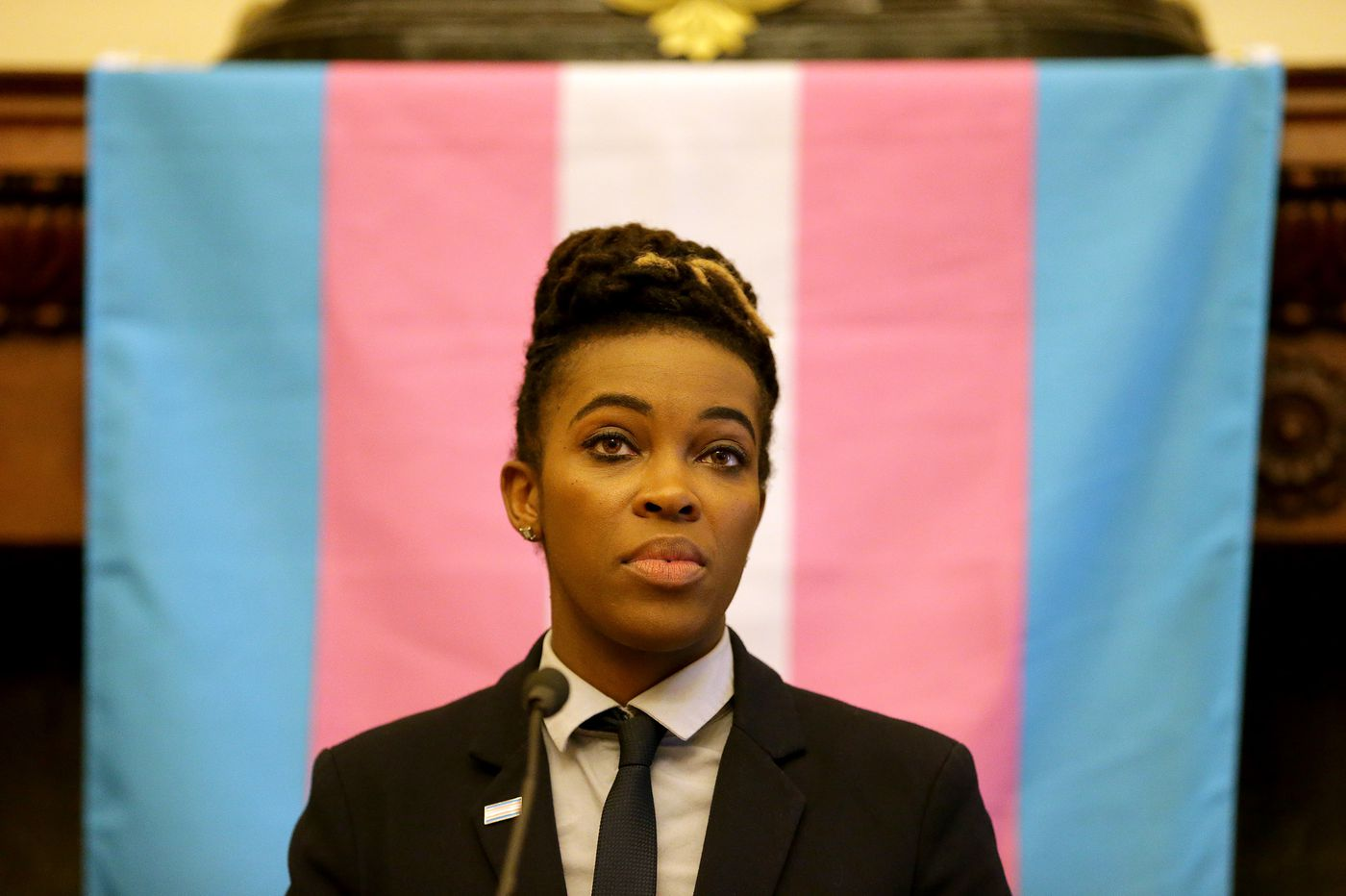 Out of City Hall, Amber Hikes fought for trans folks, LGBTQ people of color — and that flag