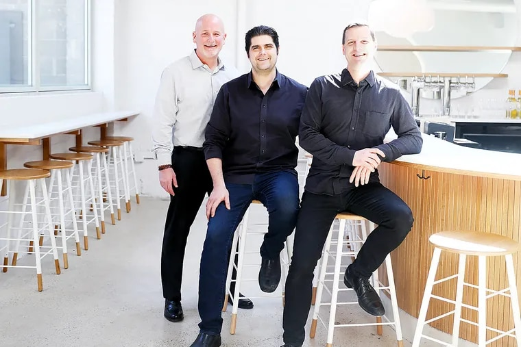 Defined Hospitality partners (from left) Al Lucas, Nick Kennedy, and Greg Root operate Suraya, Pizzeria Beddia, and R&D.
