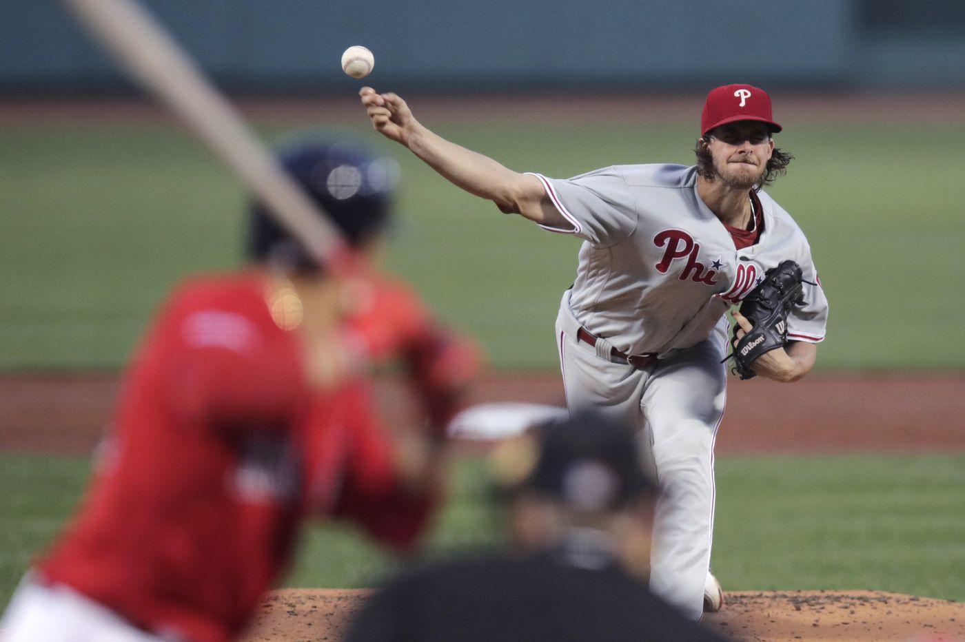 Aaron Nola, reliever Mike Morin lift Phillies over Red Sox in series opener