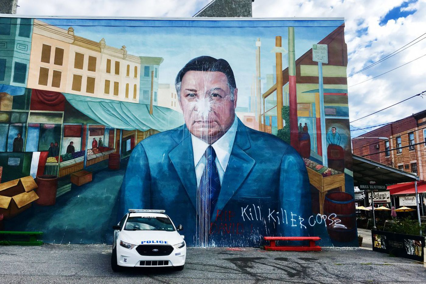Italian Market stuck in the middle with Frank Rizzo mural
