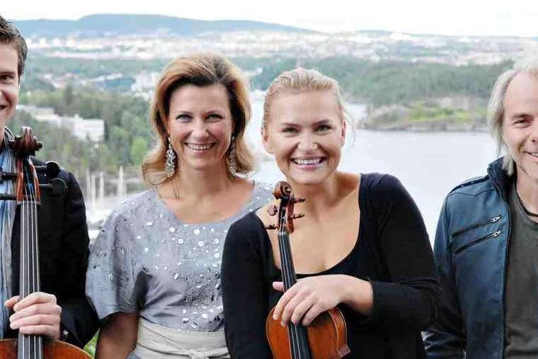 """A Christmas Concert From Norway"" features (from left) Hakon Samuelsen, Princess Martha Louise, Mari Samuelsen, and Harald Zwart."