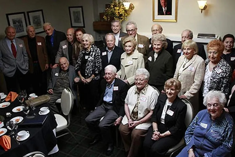 Group shot of Overbrook High's 65th reunion at Bala Country Club. (David Swanson / Staff Photographer)