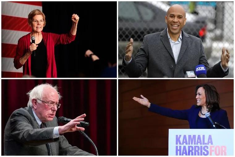 Democratic Senators Elizabeth Warren, Cory Booker, Bernie Sanders and Kamala Harris have all pushed big, liberal agenda items as the 2020 presidential primary has begun.