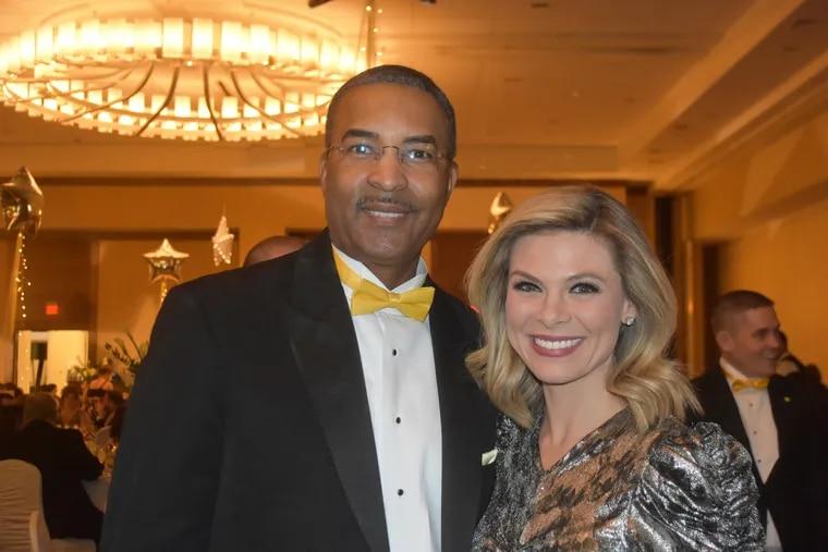 Ukee Washington and Jessica Dean at the AlexÕs Lemonade Stand Foundation 12th Annual Lemon Ball in January