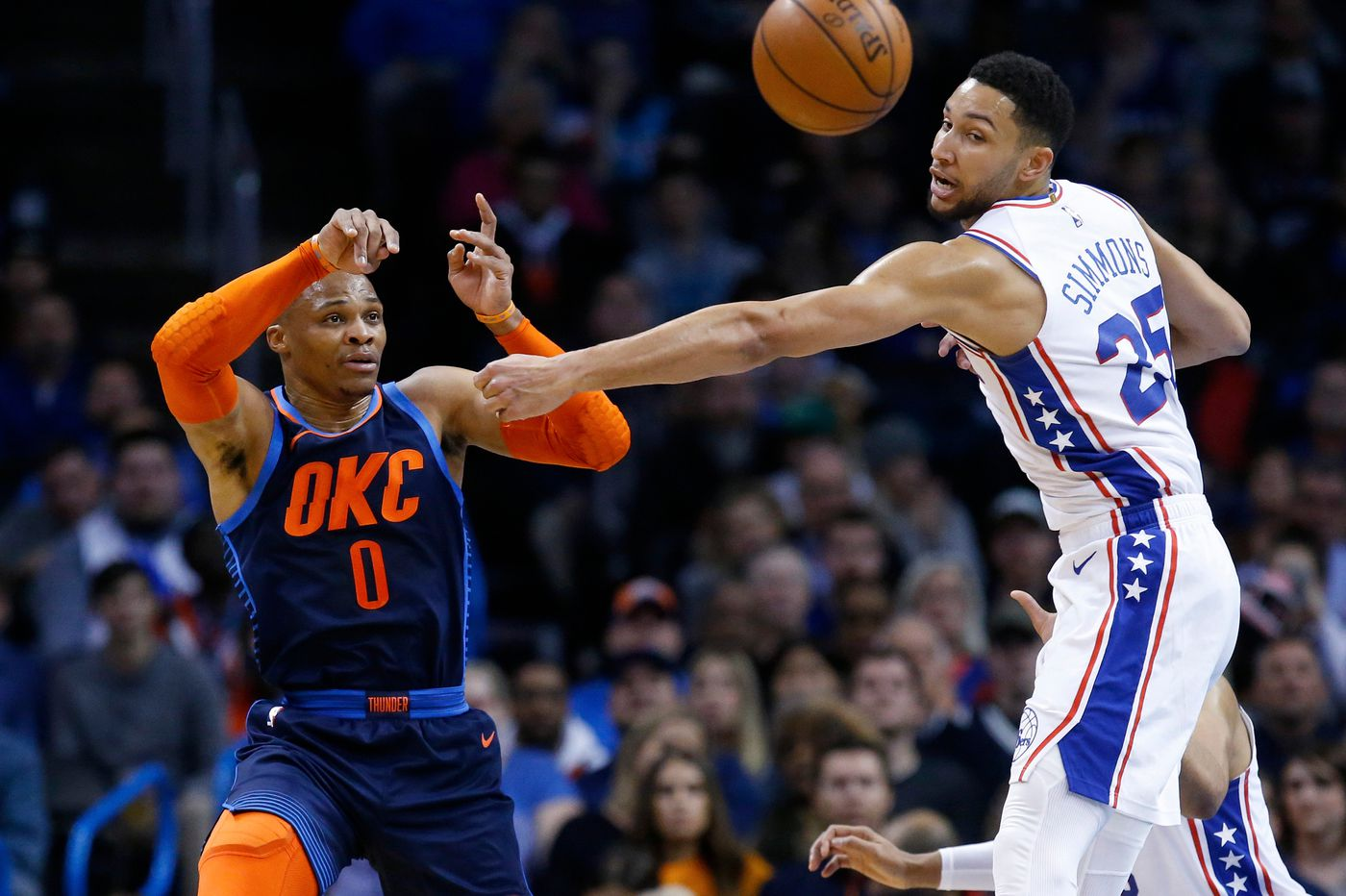 Sixers beat Oklahoma City Thunder to snap series losing streak behind Tobias Harris, Ben Simmons