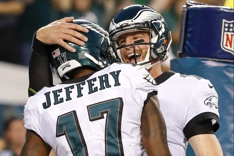 Wide receiver Alshon Jeffery and quarterback Carson Wentz have been two bright spots for the Eagles.