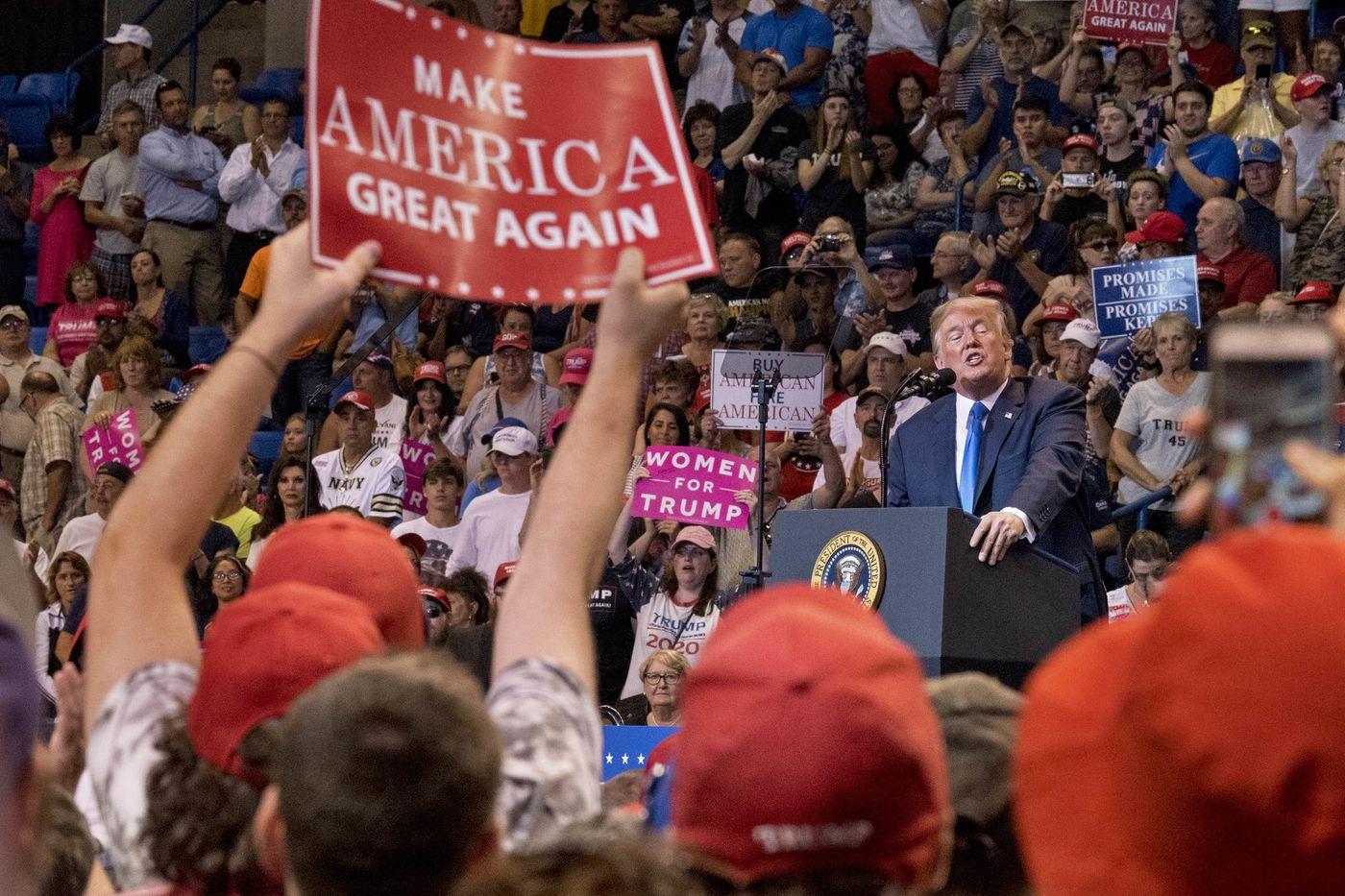Four takeaways from President Trump's Pennsylvania rally