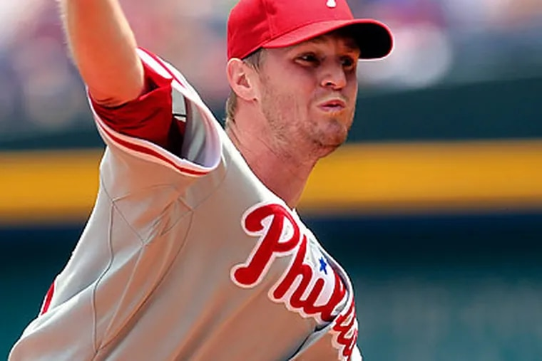 Kyle Kendrick held the Braves to one run on six hits in seven innings Wednesday. (John Bazemore/AP)