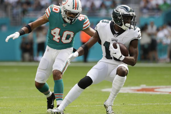 Eagles' Nelson Agholor says he first injured his knee vs. the Vikings, is working hard to get back