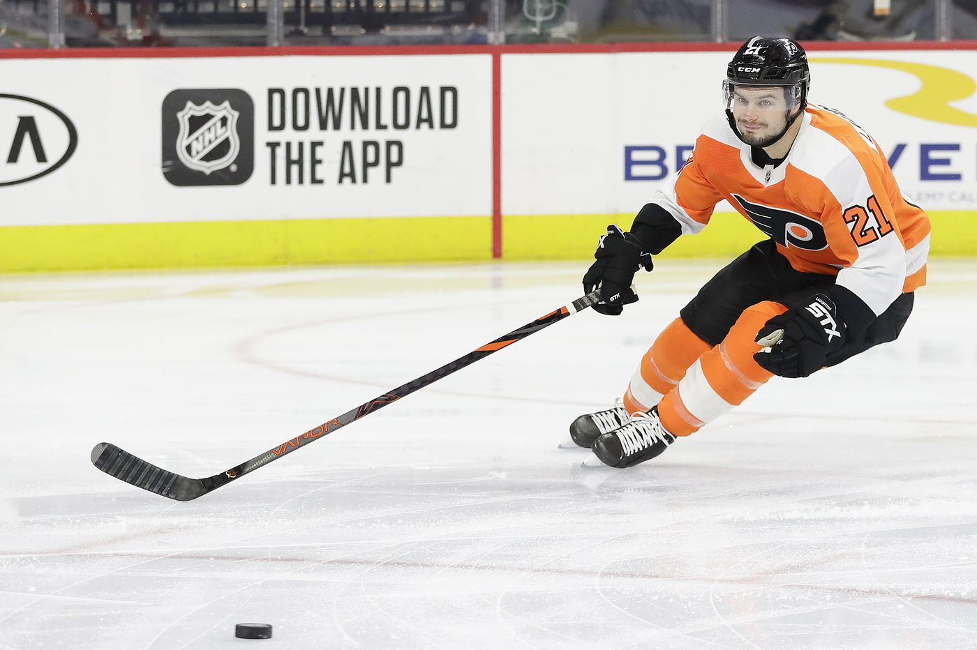 Scott Laughton, Kevin Hayes spark Flyers past Detroit, 3-0, and into top wild-card spot in East