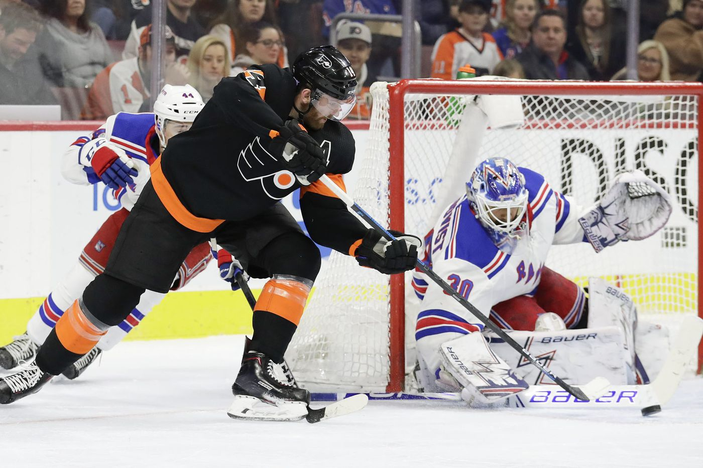 Flyers end skid by blanking Rangers