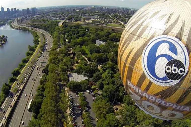 When it was soaring, the Channel 6 ZooBallon would offer majestic veiws of Philadelphia. photo: Dan Lantz